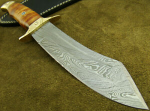 Alistar Custom Handmade Damascus Steel Buffalo Horn Hunting Knife (4710-1
