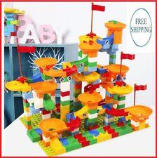 296Pcs Crazy Marble Track Run Ball Toy Game Educational Kids Building Blocks Set