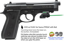 ArmaLaser GTO for Taurus PT92AF with Rail - GREEN Laser Sight w/FLX51 Grip Touch