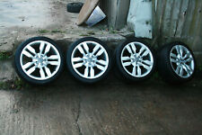 """2008 AUDI S6 19"""" ALLOY WHEELS AND TYRES SET 4F0601025AT 9Jx19 H2 ET52"""