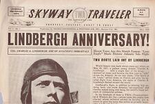TWA SKYWAY TRAVELER NEWSLETTER,ISSUE #1-MAY 1938-LINDBERG ANNIVERSARY!