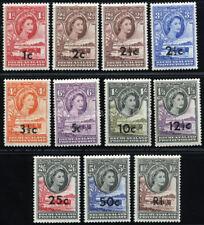 BECHUANALAND 1961 SG 157-167b SC 169-179 OG VF MLH SCARCE COMPLETE SET 11 STAMP
