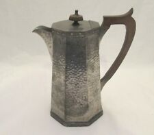 Art Deco Vintage Pewter Coffee Pot / Coffee Jug - Octagonal Shape