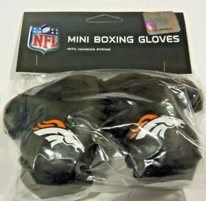 NFL Denver Broncos 4 Inch Mini Boxing Gloves for Mirror by Fremont Die
