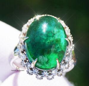 Emerald Ring Gold Diamond Real 14K Natural 11.32CTW GIA Certified RETAIL $12100