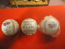 (3) Minnesota Twins Promotional Stamped Autographed Baseballs