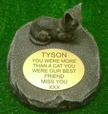 cat Large Pet Memorial/headstone/stone/grave marker/memorial with plaque ag15