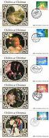 17 NOVEMBER 1987 CHRISTMAS SET OF ALL 5 BENHAM SMALL SILK FIRST DAY COVERS SHSs
