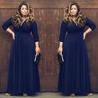 Grande Taille Femme MAXI Longueur Boho Vêtement de Soirée Robe Plage Été