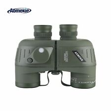 10X50 Binoculars with Night Vision Rangefinder Compass Waterproof BAK4 Prism