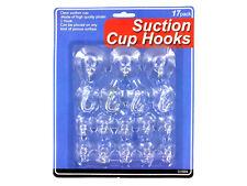 Suction Cup Hooks Set - 17 Pcs, 3 Sizes