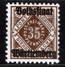 Württemberg 142 **, 35 Pf. Ziffer in Raute Aufdruck Volksstaat