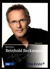 Reinhold Beckmann Sportschau Autogrammkarte Original Signiert # BC 45712