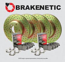 [F&R] BRAKENETIC SPORT DRILLED Brake Rotors + POSI QUIET Pads w/BREMBO BSK80249