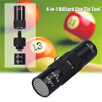 Snooker Pool Cue Tip Shaper Scuffer Aerator Stick Joint Protector Tool 4 IN 1