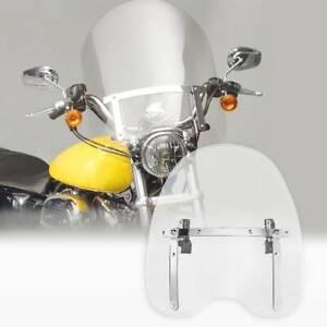 Clear Windscreen Windshield Fit For Harley Glide Sportster XL1200 XL 883 Softail