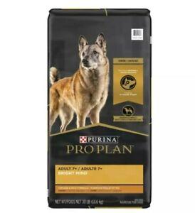 Purina Pro Plan Adult 7+ Bright Mind Dry Dog Food Chicken & Rice Formula 30 LB