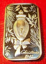 Christmas- 1982 Art Bar by Madison Mint 1 Troy oz. 999 Fine Silver