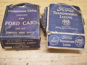 Vintage Antique OEM Ford Model T Car Transmission Band Linings