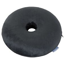 Memory Foam Zippered Cover Ring Donut Pillow Pressure Relief Piles Coccyx 16 In