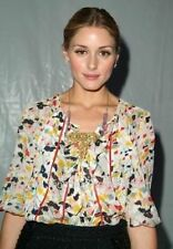 Olivia Palermo x DVF Marla Bis Silk Blouse in Posey Size 2