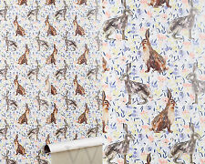 """New Anthropologie Hare """"Garden Meander"""" Wallpaper/ Rabbits  Sold out!"""