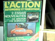 ESSAI PRESENTATION CITROEN GS BIROTOR 1974+ VW SIROCCO