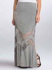 Torrid Lace Inset Maxi Skirt Gray 4X 26 4 #53797