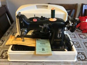 Pfaff 130 Sewing machine with case very clean good cosmetic used works.