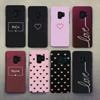 Mobile Cover For Samsung Galaxy S8 S9 Plus S7 Note 9 A8 Couple Heart Phone Case