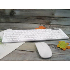 2.4GHz USB Wireless Gaming Keyboard and Mouse Set Combo for PC Laptop White UK