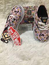 Vans Authentic Nintendo Toddler Size 5.5 Princess Peach Pink NIB Free Shipping