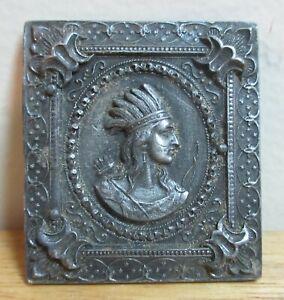 Bergamot Brass Works Native American/Indian Ornate Silver Belt Buckle