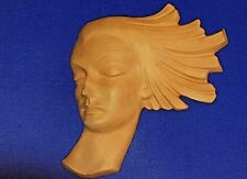 Terracotta Art Deco Wall Face Mask 32cm Wide