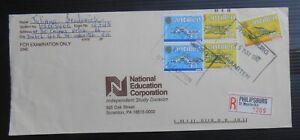 Dutch Antilles 1992 Registered commercial cover-St. Maarten registration label