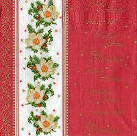 4 Motivservietten Servietten Napkins Tovaglioli Weihnachten Blumen (994)