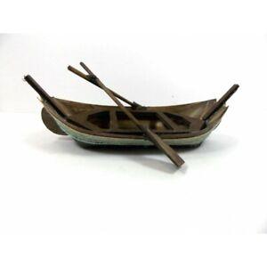 Barca in Legno Cm 13x20x7h - Pescatore Scenografia per Presepe