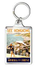 HONG KONG VINTAGE REPRO KEYRING SOUVENIR LLAVERO
