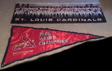2006 & 2011 ST. LOUIS CARDINALS WORLD SERIES CHAMPIONS BANNERS SGA RARE