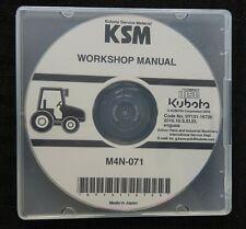 GENUINE KUBOTA M4N-071 TRACTOR SERVICE REPAIR MANUAL ON CD