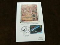 1986 Benham Silk FDI Card, Return of Halley's Comet 22p Stamp, Space