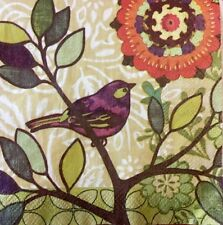 Paper Napkins Decoupage Birds Trees Branches Floral Lot Of 2