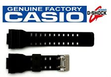 CASIO G-Shock GD-100SC-1D 16mm Original Glossy Black Rubber Watch BAND Strap