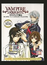 DVD Vampire Knight Complete Season 1+2 Episode 1-26 end Anime ENGLISH dubbed