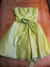 ROMANTICA KNEE LENGTH GORGEOUS PARTY/BALLGOWN DRESS APPLE GREEN SIZE 12