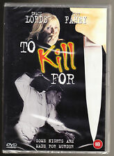 TO KILL FOR - TRACI LORDS, JEFF FAHEY, BRIAN BLOOM - CERT 18 - NEW SEALED R2 DVD