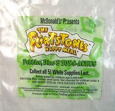 1993 McDonalds The Flinstones Pebbles Dino & Toy-S-Aurus Toy BAG Near Mint+ C9!