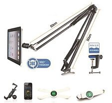 NJS Telescopic Mobile Phone Tablet iPad iPhone Stand With G Clamp Mount #068F