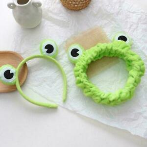Cute Frog Selfie Headband Elastic Wide-brimmed Animal Hairbands Headwear O8F2