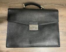 Prada Milano Men Women Unisex Briefcase Saffiano Leather Black Bag Bussines Tote